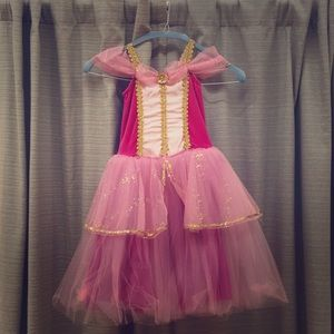 Pink and Gold Ballet Costume